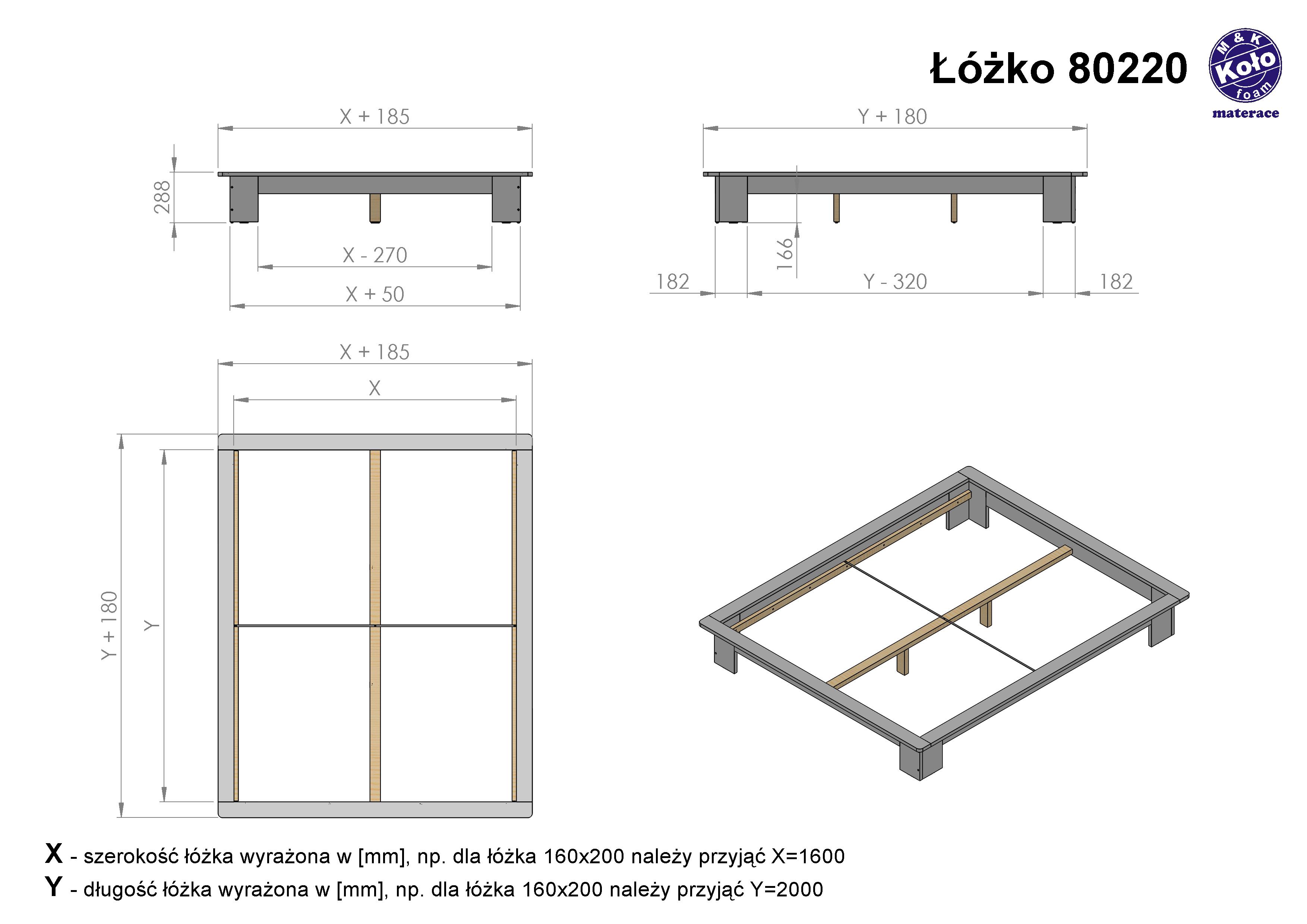 łóżko Drewniane 80220 08 Białe