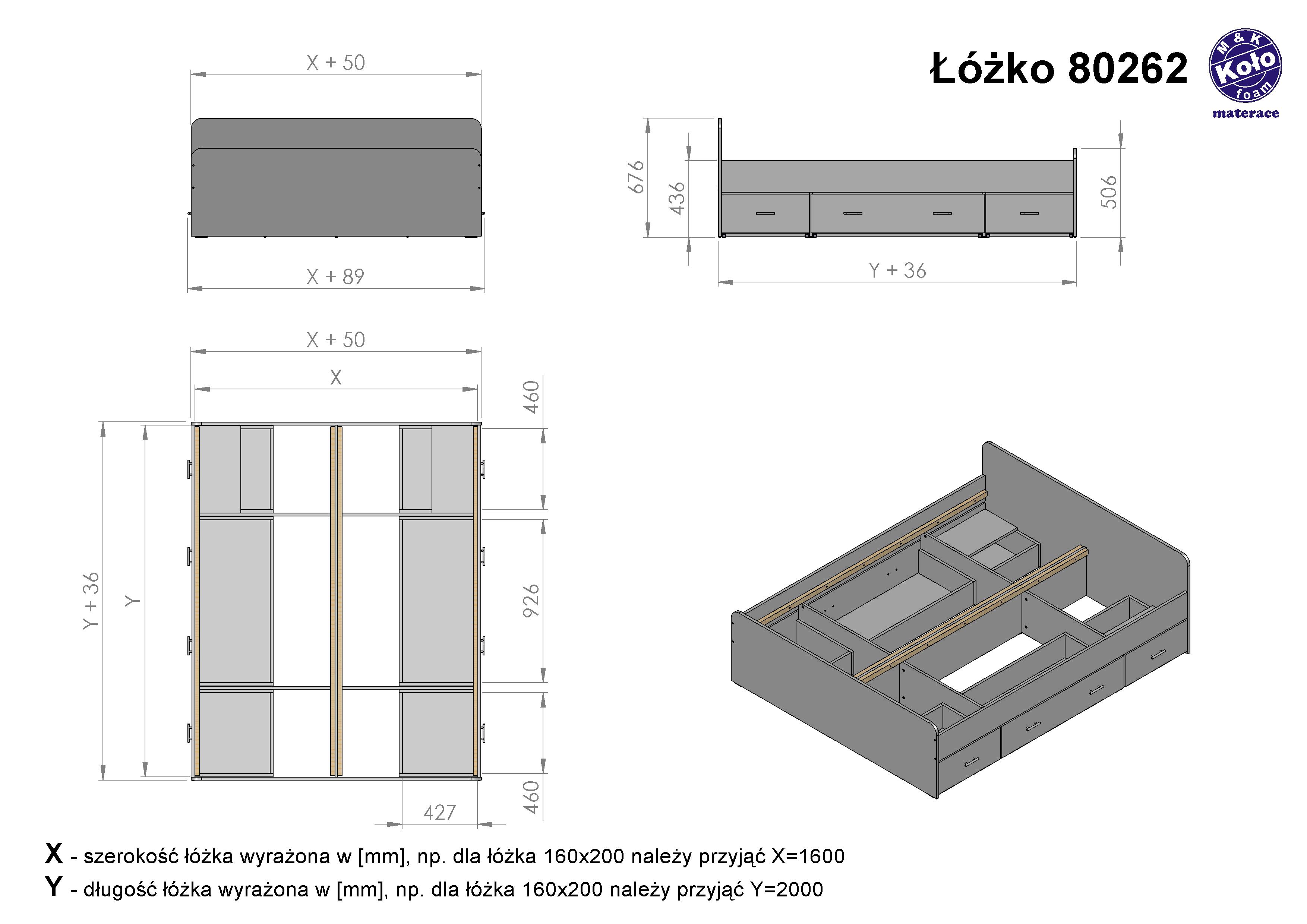 łóżko Drewniane 80262 23 Klon